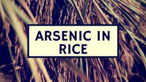 Rice from Pakistan Arsenic Rice