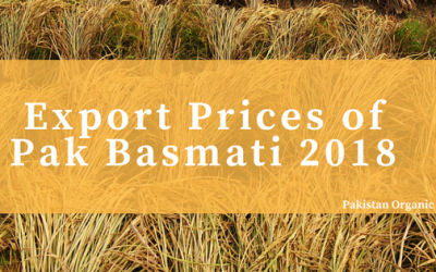 Snapshot of Pakistani basmati rice price of export in January, 2018