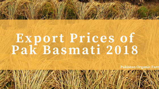 Snapshot of Super Kernel basmati rice price in Pakistan of export in January, 2018